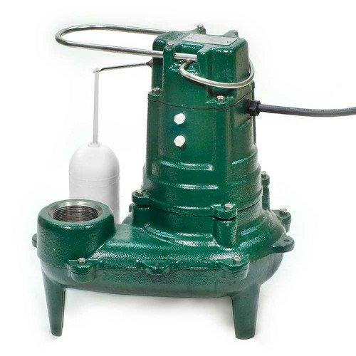 Model E267 Waste-Mate Non-Automatic Cast Iron Sewage Pump - 230 V, 1/2 HP