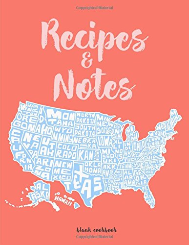 Recipes   Notes  Blank Cookbook Journal  Cooking Gifts