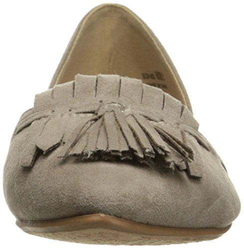 Suede Pointed by Chinese Super Toe Taupe CL D'orsay Laundry Dark Women's Flat Seline XfCxn7F