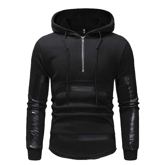 c2661206 Hunzed Men【Long Sleeve Zipper Hoodie Sport Sweatshirt 】 Mens Fashion Casual  Printed Solid Color Slim Sports Sweater at Amazon Men's Clothing store:
