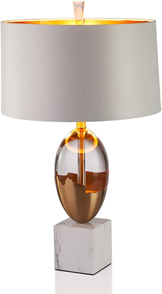 HXMSXROMIDA Lampara de Mesa Salon Grande, Lámparas de Mármol para mesita de Noche con Pantalla de Tela, para Escritorio para Salón, Dormitorio, Habitación Infantil, Estantería: Amazon.es: Hogar