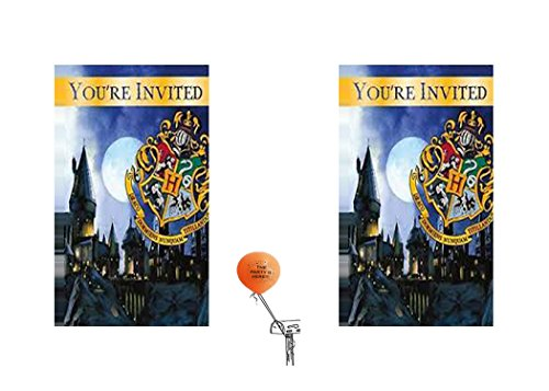 Harry Potter Party Invitation 16 Guest (Harry Potter Birthday Party Ideas)