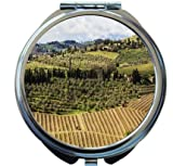 Rikki Knight Chianti Countryside Scenery Design Round Compact Mirror