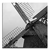 JP London 2in Thick Premium Huge Gallery Wrap Heavyweight Canvas Wall Art Natural Windmill Power 50in CNVSQL2033