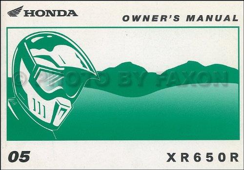 Dirt Bike Owners Manual (2005 Honda XRF650R Dirt Bike Owner's Manual Original Motorcycle)