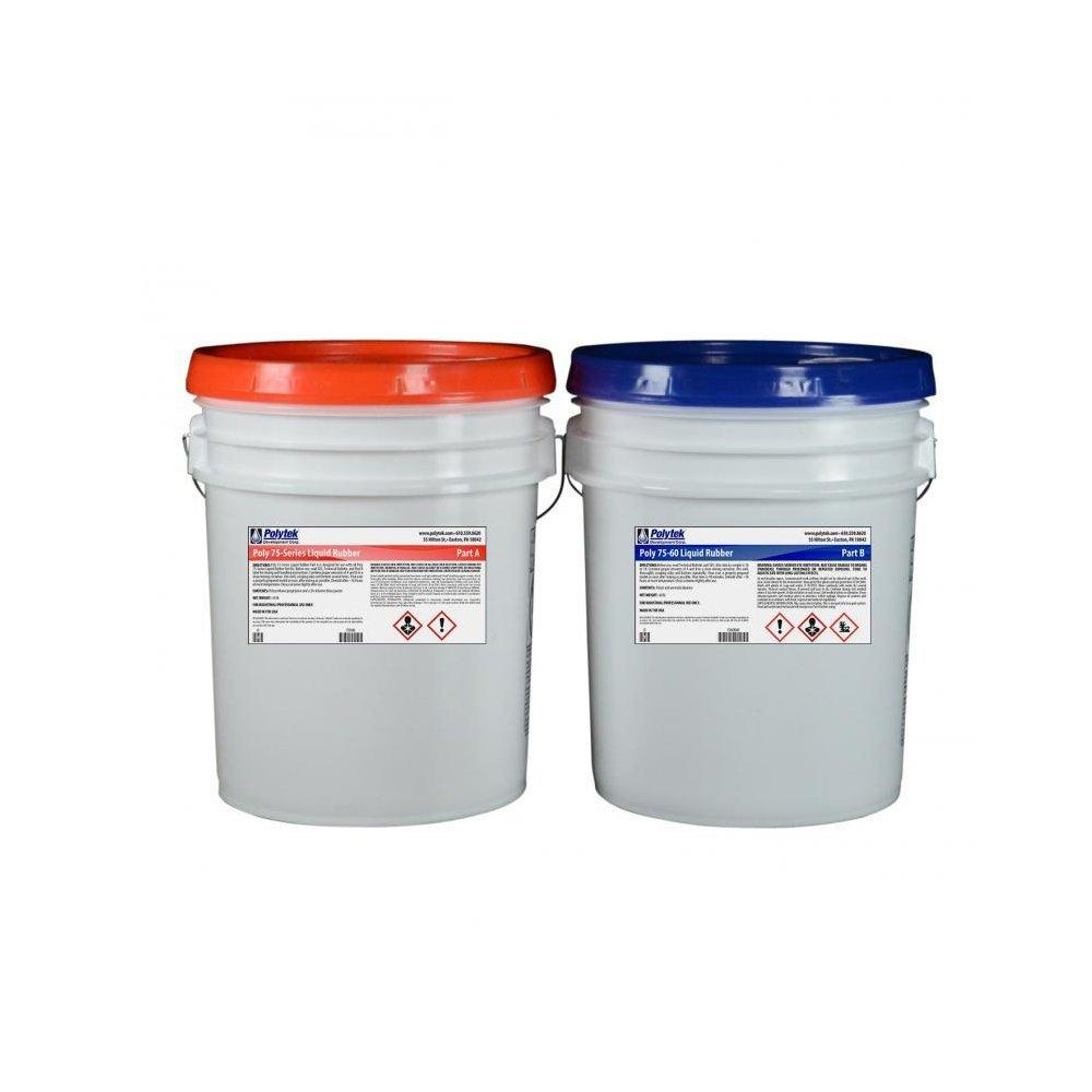 Polytek 75-60 Liquid Polyurethane Rubber (80lb Kit)
