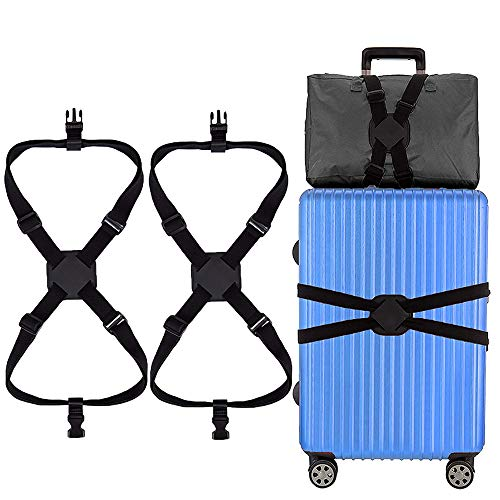 Luggage Straps, Suitcase Straps Luggage Straps for Suitcases Heavy Duty Travel Luggage Belt for Travel Business (Black)