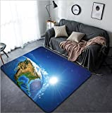 Vanfan Design Home Decorative 292933871 Rising sun over the Earth and its landforms view of the United States of America Elements of this image furnished by NASA Modern Non-Slip Doormats Carpet for L