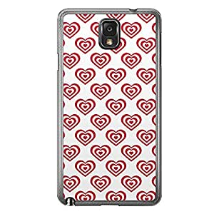 Loud Universe Samsung Galaxy Note 3 Love Valentine Printing Files A Valentine 64 Printed Transparent Edge Case - White/Red