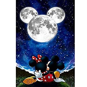 5D Diamond Painting Kits Full Drill Disney Diamond Embroidery 30x40cm,Mickey Mouse Diamond Kit Home Wall Decor 12x16Inch…