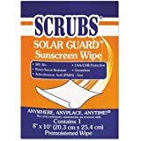SCRUBS Solar Guard Sunscreen Towels - Includes 100 wipes.