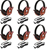 Califone 2810-BE Listening First Stereo Headphone, Bear Motif - Pack of 6