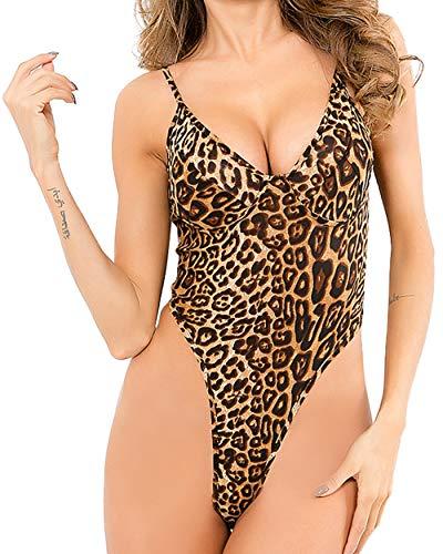 gagaopt Women Sexy Lace Bodysuit One Piece Lingerie Teddy Underwear ()