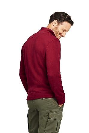 988e03407632a Lands  End Men s Bedford Rib Quarter Zip Sweater at Amazon Men s Clothing  store