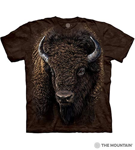 - The Mountain American Buffalo Adult T-Shirt, Brown, 2XL