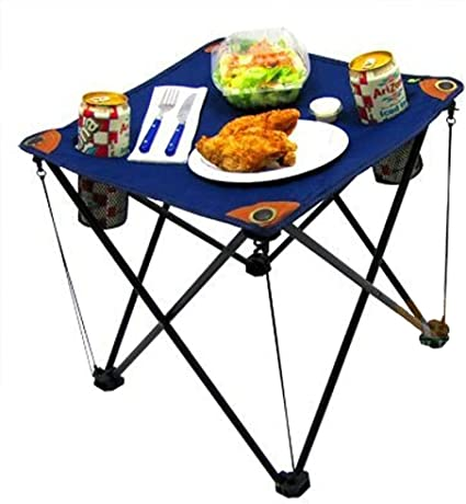 Outdoor Portable Folding Table Lightweight Camping Picnic with Cup Holder Bag