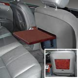 Euromeister 70219416 Mercedes; S550 Business Table, Gloss Burlwood & Black Leather,
