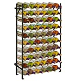 Modern Black Metal 60 Bottle Wine Cellar Organizer Rack/Wall Mounted Wine Collection Display Stand