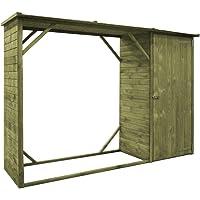 Festnight- Abri de Jardin en Bois de Jardin cabane à Outils Rangement Abri de Rangement pour terrasse 253 x 80 x 170 cm