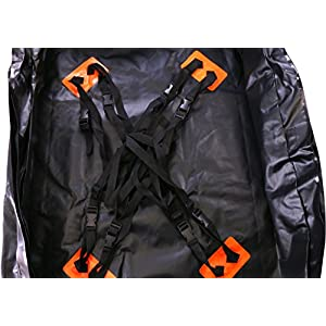 Waterproof Cargo Storage Rooftop Bag - On top of Car Bag - Tarpaulin Material - Soft Sided Design - PP Webbing with Plastic Buckle - Secure Zipper Pullers - Fit for Outdoor - by Utopia Bedding