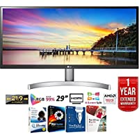 LG 29WK600-W 29 21:9 UltraWide Full HD IPS LED Monitor with HDR 10 (2018 Model) + Elite Suite 17 Standard Software Bundle (Corel WordPerfect, Winzip, PDF Fusion,X9) + 1 Year Extended Warranty