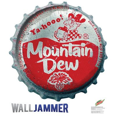 (Mountain Dew Bottle Cap Wall Jammer Wall Decal 24 x 24in)