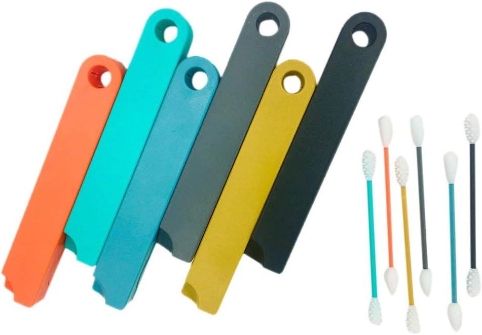 Hehilark Coton-Tige r/éutilisable Oreille Nettoyage Coton-Tige cosm/étique tampons en Silicone pour Le Nettoyage de Maquillage et de retouches