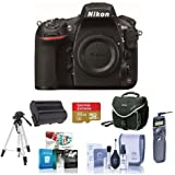 Nikon 810 Digital SLR Camera, 36.3MP - Bundle with 32GB Class 10 SDHC Card, Spare EN-EL15 Battery, Camera Bag, Pro Tripod, Remote Shutter Trigger, Cleaning Kit, Software Package