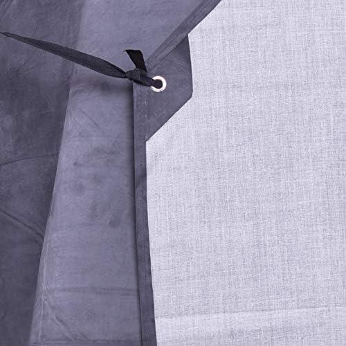 Nanxson Grembiule da Uomo Grembiule Regolabile in Gomma Impermeabile Grembiule da Lavoro per macelleria CF3024 Nero, Standard