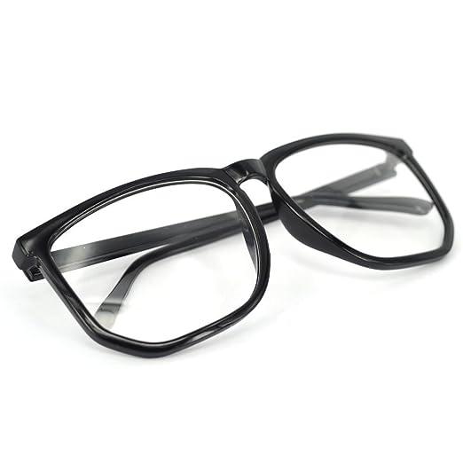 28163fc3d1675 Amazon.com: Big Oversized Tortoise Shell Retro Nerd Geek Clear Lens ...