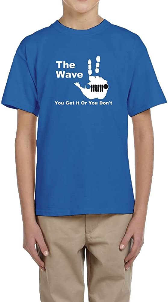 Fzjy Wnx Short-Sleeved T-Shirts Youth Crew-Neck Jeep Wave for Boy
