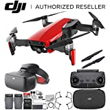 DJI Mavic Air Drone Quadcopter (Flame Red) + DJI Goggles FPV Headset (Racing Edition) VR FPV POV Experience Essential Bundle