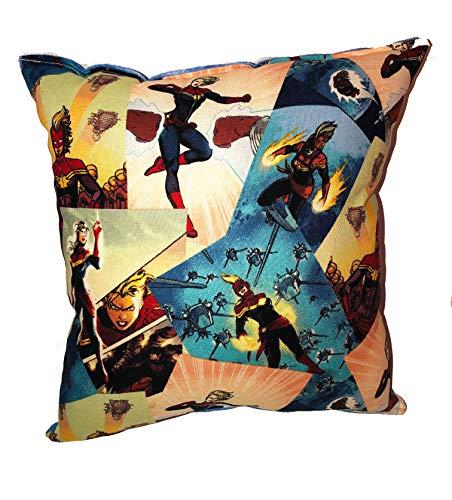 "(Captain Marvel Pillow Marvel Comics Pillow 2019 Movie Pillow is approximately 10"" X)"