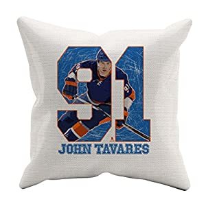 John Tavares Game B New York Throw Pillow