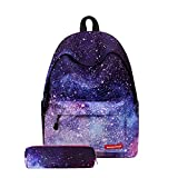 VentoMarea New Fashion Style Lightweight School Backpack Casual Laptop Bag Sports Traveling Daypack for Boys, Girls, Starry Sky Review