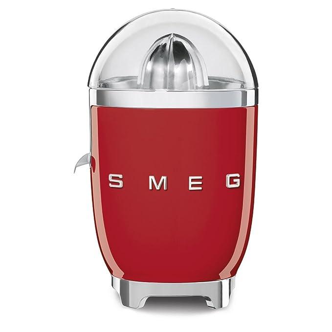 SMEG Exprimidor CJF01RDEU, 70 W, Acero Inoxidable, rojo: Amazon.es: Hogar