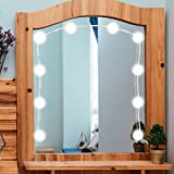 AOZBZ 16W 10 LED Makeup Mirror Light Bulb, Hollywood Style Adjustable String Length USB Powered for Dressing, Cosmetic, Bathroom