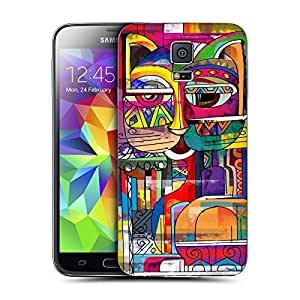 Head Case Designs Abyssinian Aztec Cat Replacement Battery Back Cover for Samsung Galaxy S5 by runtopwell