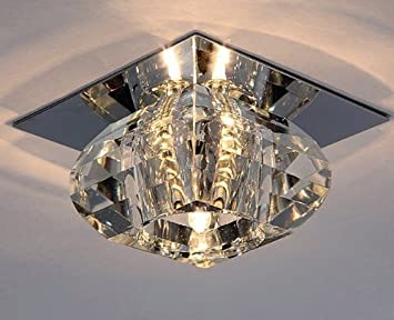 Amzdeal G9 40w Plafonnier Halogène Lampe Lustre Moderne Crista Applique Murale Lumineuse
