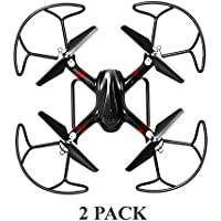 2-Pack Alta Black Quadcopter Sparrow RC Drone with 2.4GHZ Remote Control