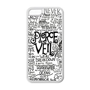 Novel Style Band pierce the veil Quotes Printed Case PTV cover for iphone 5c -Soft TPU Back Designer Case Protector White 022701