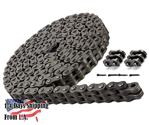 BL444 Leaf Chain 10 Feet for Forklift Masts,Hoisting with 1 Connecting Link