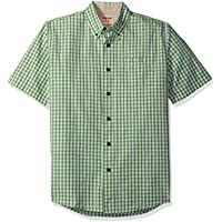 Wrangler Authentics Men's Short Sleeve Plaid Woven Shirt