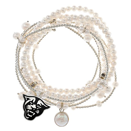 Georgia State Panthers 7 Strand Freshwater Pearl and Silver Bracelet by College Jewelry