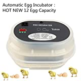 Incubator Hatcher-12 Automatic Egg Incubator Hatcher Poultry Hatch Temperature Control