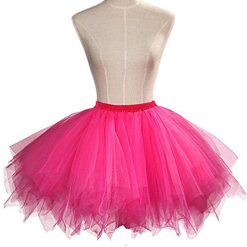 Rose Party Petticoat Vintage ONECHANCE Bubble Tutu 50 Annes Hot Jupe Tulle Classique Ballet Couches Jupe RPRwq6S