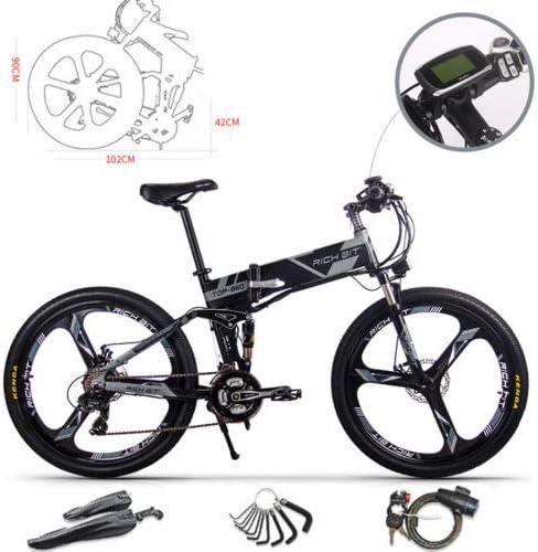 RICH BIT Bicicleta de Montaña Eléctrica, Unisex Adulto, Urbana EBIKE-26,Gris: Amazon.es: Deportes y aire libre