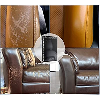 Black Leather and Vinyl Repair Kit - Furniture, Couch, Car Seats, Sofa, Jacket, Purse, Belt, Shoes | Genuine, Italian, Bonded, Bycast, PU, Pleather |No Heat Required | Repair & Restore: Automotive