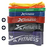 xFitness Pull Up Assist Band by Top Rated Stretch Resistance Band, Mobility Band, Powerlifting Bands | 7 Levels to Choose | Perfect for Chin Ups, Muscle Ups, Ring Dips | Single Band or Set Combo Review