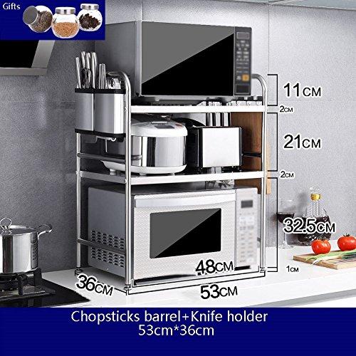 Muebles de cocina Estante de horno de microondas de acero ...